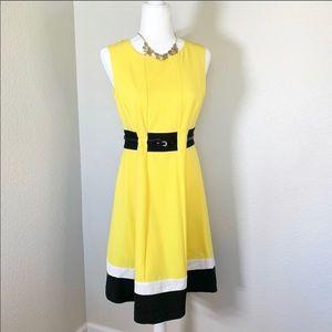 🆕Calvin Klein Fit & Flare Dress Women's Sz 4